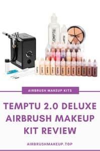 temptu 2.0 deluxe airbrush makeup kit review